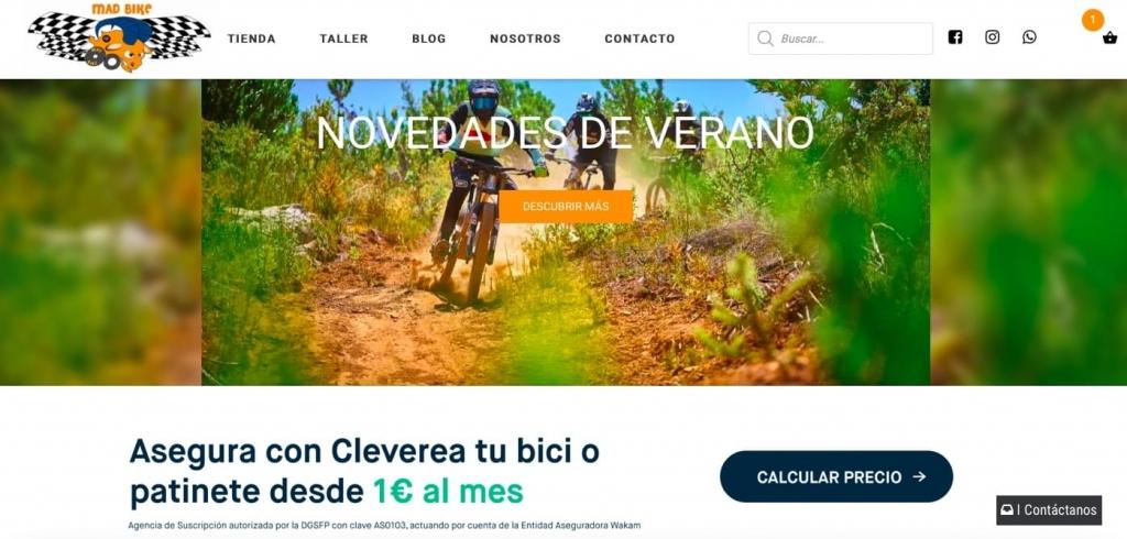 Pagina web Mad Bike - Cleverea